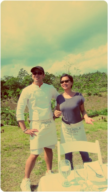Chef Eugene with Moveable Feast's Jenny Pascual